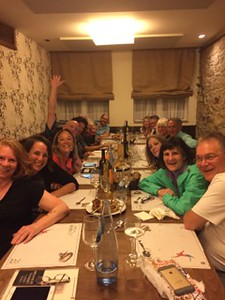 Celebratory dinner in Santiago de Compostela. We did it!Photography: Brooke Weinmann