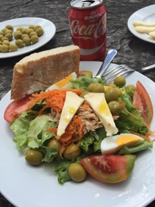 Lunch stop with local olives, green, cheese and tomatoes.  Even COKE!Photography: Brooke Weinmann