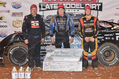 Dennis Erb, Jr. (L), Scott Bloomquist (C) and Tim McCreadie (R)