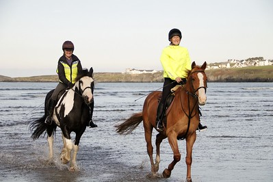 two lady horse riders who enjoyed the fabulous weather