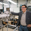 Professor David Schaffner's in his physics lab.