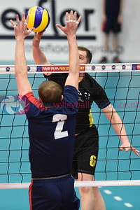 South Ayrshire 1 v 3 City of Edinburgh (22-25, 18-25, 25-22, 14-25) Men's Cup Final, University of Edinburgh, Centre for Sport and Exercise, 17 April 2016.  © Lynne Marshall  http://www.volleyballphotos.co.uk/2016/SCO/Cups/Mens-Final/
