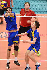 Su Ragazzi II 3 v 1 NUVOC II, (28-30, 25-16, 25-10, 25-13) Men's Plate Final, University of Edinburgh, Centre for Sport and Exercise, 16 April 2016.  © Lynne Marshall  http://www.volleyballphotos.co.uk/2016/SCO/Cups/Mens-Plate-Final/