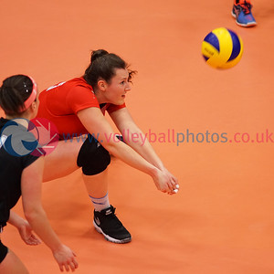 City of Edinburgh 3 v 1 Su Ragazzi (25-23, 25-22, 13-25, 25-17), Women's Cup Final, University of Edinburgh Centre for Sport and Exercise, Sun 17 Apr 2016.  © Michael McConville   http://www.volleyballphotos.co.uk/2016/SCO/Cups/Womens-Final
