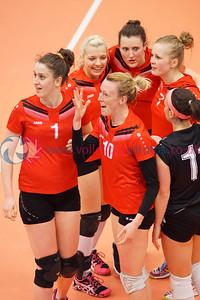 City of Edinburgh 3 v 1 Su Ragazzi (25-23, 25-22, 13-25, 25-17), Women's Cup Final, University of Edinburgh Centre for Sport and Exercise, Sun 17 Apr 2016.  © Michael McConville   http://www.volleyballphotos.co.uk/2016/SCO/Cups/Womens-Final