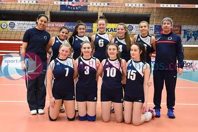 City of Edinburgh 0 v 2 Marr College (18-25, 6-25), Girl's U16 Junior Super Cup Final,, University of Edinburgh, Centre for Sport and Exercise, 16 April 2016.  © Lynne Marshall  http://www.volleyballphotos.co.uk/2016/SCO/JSVL/U16W-Super-Cup/