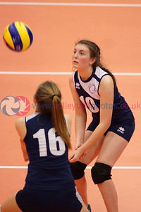 City of Edinburgh 0 v 2 Marr College (18, 6), Girl's U16 Junior Super Cup Final, University of Edinburgh Centre for Sport and Exercise, Sat 16 Apr 2016.  © Michael McConville  http://www.volleyballphotos.co.uk/2016/SCO/JSVL/U16W-Super-Cup