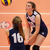 "City of Edinburgh 0 v 2 Marr College (18, 6), Girl's U16 Junior Super Cup Final, University of Edinburgh Centre for Sport and Exercise, Sat 16 Apr 2016. <br /> © Michael McConville <br /> <a href=""http://www.volleyballphotos.co.uk/2016/SCO/JSVL/U16W-Super-Cup"">http://www.volleyballphotos.co.uk/2016/SCO/JSVL/U16W-Super-Cup</a>"