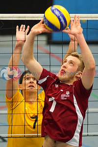 Scottish Student Sport Cup Semi-Finals, Dundee University ISE, Sun 14th Feb 2016.  Strathclyde University 3 v 2 University of Glasgow (25-20, 29-27, 25-27, 22-25, 15-10)