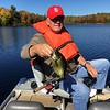 BUNBURY SHOWS OFF ONE OF HIS MANY CRAPPIES HE CAUGHT