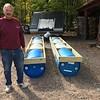 TOM SPERANZA HELPS CARPENTER A FLOATING ATV BRIDGE