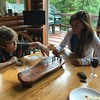 ALEX BEATS MERYL AT CRIBBAGE  !!!