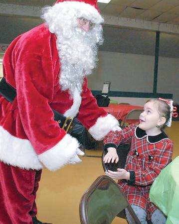 Santa visits Vinton Skate Center for breakfast