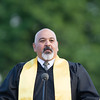 Raul Rodriguez, Co-Principal, Main Campu, offers remarks as Newburgh Free Academy held its 151st Commencement Exercises for the graduating Class of 2016 on Academy Field in the City of Newburgh, NY on Thursday, June 23, 2016. Hudson Valley Press/CHUCK STEWART, JR.