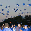 Newburgh Free Academy graduates toss their caps during the 151st Commencement Exercises for the graduating Class of 2016 on Academy Field in the City of Newburgh, NY on Thursday, June 23, 2016. Hudson Valley Press/CHUCK STEWART, JR.