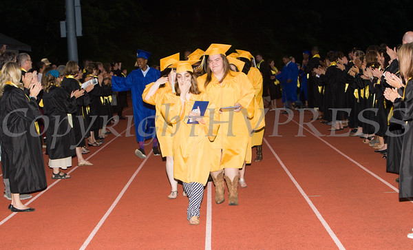 Newburgh Free Academy graduates recess from Academy Field following the 151st Commencement Exercises for the graduating Class of 2016 in the City of Newburgh, NY on Thursday, June 23, 2016. Hudson Valley Press/CHUCK STEWART, JR.