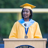 Salutatorian Kaila Helm addresses fellow classmates during Newburgh Free Academy's 151st Commencement Exercises for the graduating Class of 2016 on Academy Field in the City of Newburgh, NY on Thursday, June 23, 2016. Hudson Valley Press/CHUCK STEWART, JR.