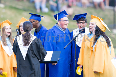 The NFA Madrigals perform as Newburgh Free Academy held its 151st Commencement Exercises for the graduating Class of 2016 on Academy Field in the City of Newburgh, NY on Thursday, June 23, 2016. Hudson Valley Press/CHUCK STEWART, JR.