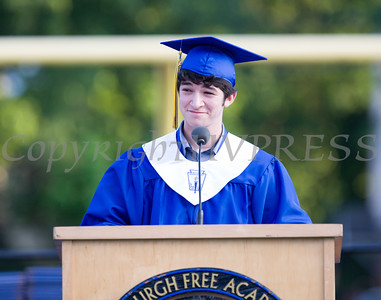 Valedictorian Zachary Siper addresses fellow classmates during Newburgh Free Academy's 151st Commencement Exercises for the graduating Class of 2016 on Academy Field in the City of Newburgh, NY on Thursday, June 23, 2016. Hudson Valley Press/CHUCK STEWART, JR.