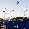 Poughkeepsie High School toss their caps following the 144th Commencement Exercises for the graduating Class of 2016 on Friday, June 24, 2016 in Poughkeepsie, NY. Hudson Valley Press/CHUCK STEWART, JR.