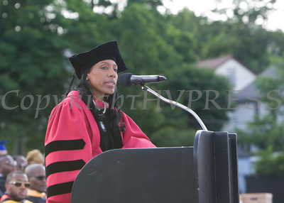 Superintendent of Schools Dr. Nicole Williams offers remarks for the Poughkeepsie High School 144th Commencement Exercises for the graduating Class of 2016 on Friday, June 24, 2016 in Poughkeepsie, NY. Hudson Valley Press/CHUCK STEWART, JR.