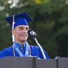 Valedictorian Issa Nesheiwat addresses his fellow students during the Poughkeepsie High School 144th Commencement Exercises for the graduating Class of 2016 on Friday, June 24, 2016 in Poughkeepsie, NY. Hudson Valley Press/CHUCK STEWART, JR.
