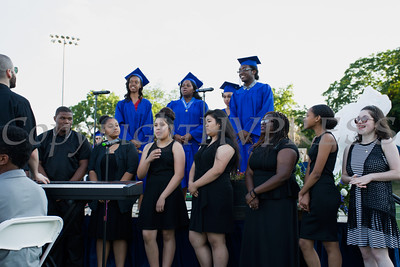 "Poughkeepsie High School Chorus featuring the seniors perform ""Break Every Chain"" during the Poughkeepsie High School 144th Commencement Exercises for the graduating Class of 2016 on Friday, June 24, 2016 in Poughkeepsie, NY. Hudson Valley Press/CHUCK STEWART, JR."