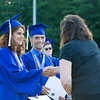 NYS Senator Sue Serino presents special citations to Salutatorian Simone Teague and Valedictorian Issa Nesheiwat during the Poughkeepsie High School 144th Commencement Exercises for the graduating Class of 2016 on Friday, June 24, 2016 in Poughkeepsie, NY. Hudson Valley Press/CHUCK STEWART, JR.
