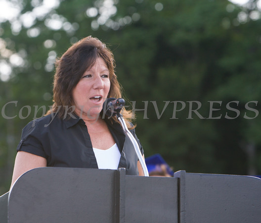 NYS Senator Sue Serino offers remarks for the Poughkeepsie High School 144th Commencement Exercises for the graduating Class of 2016 on Friday, June 24, 2016 in Poughkeepsie, NY. Hudson Valley Press/CHUCK STEWART, JR.