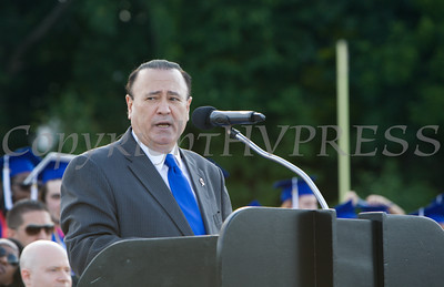 NYS Assemblyman Frank Skartados offers remarks for the Poughkeepsie High School 144th Commencement Exercises for the graduating Class of 2016 on Friday, June 24, 2016 in Poughkeepsie, NY. Hudson Valley Press/CHUCK STEWART, JR.