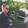 Principal Phee Simpson offers remarks as Poughkeepsie High School held its 144th Commencement Exercises for the graduating Class of 2016 on Friday, June 24, 2016 in Poughkeepsie, NY. Hudson Valley Press/CHUCK STEWART, JR.