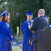 Poughkeepsie Mayor Robert Rolison presents special citations to Salutatorian Simone Teague and Valedictorian Issa Nesheiwat during the Poughkeepsie High School 144th Commencement Exercises for the graduating Class of 2016 on Friday, June 24, 2016 in Poughkeepsie, NY. Hudson Valley Press/CHUCK STEWART, JR.