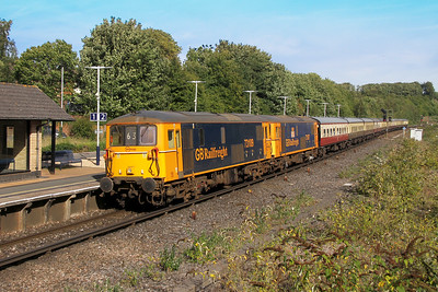 73109 Micheldever 24/09/16 1Z63 Tonbridge to Swanage with 73107
