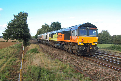 66849 Weston 25/09/16 on the rear of 0C03 Eastleigh to Hoo Junction