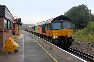 66846 Micheldever 19/09/16 6Y42 Hoo Junction to Eastleigh with 66553 and 66559
