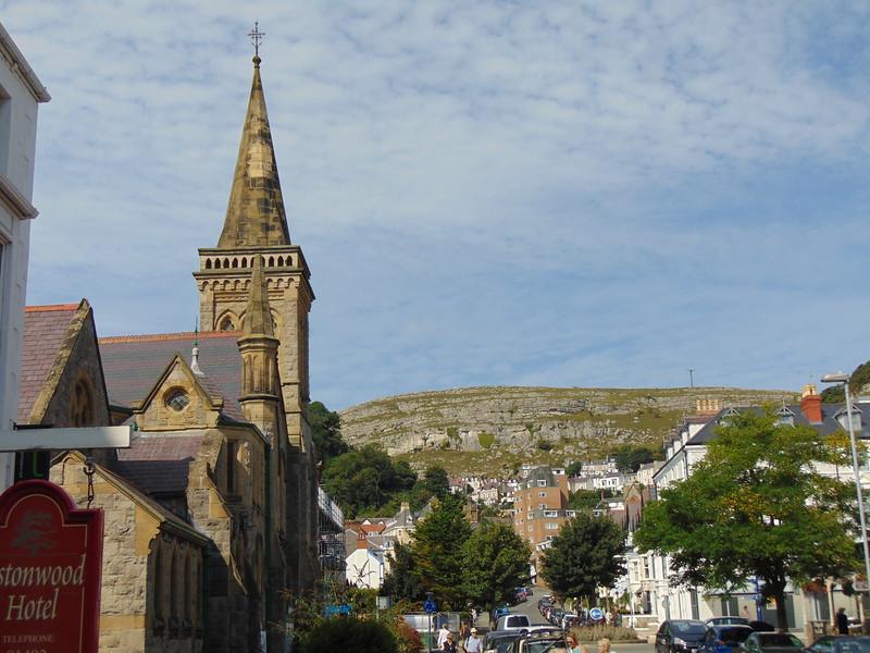 The Gloddaeth United Church and the Great Orme, Llandudno.
