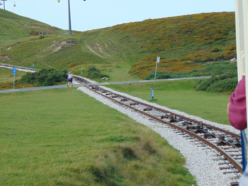 Riding the Great Orme Tramway.