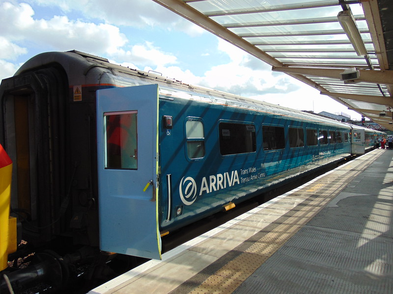 Arriva Trains Wales Mark 3 Standard Open carriage at Llandudno Junction in the consist of a Holyhead service.
