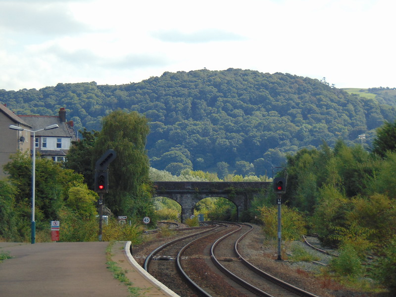 The view west from Llandudno Junction station.