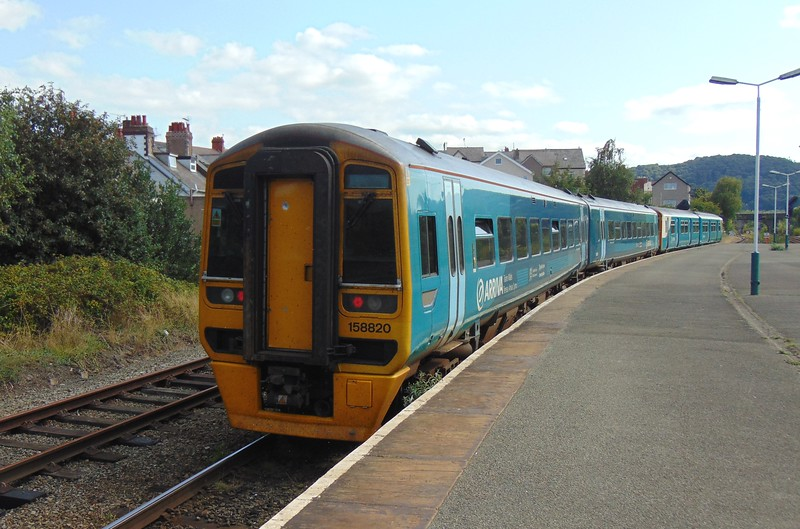 Arriva Trains Wales Class 158 Express Sprinter no. 158820 at Llandudno Junction with a service to Chester.