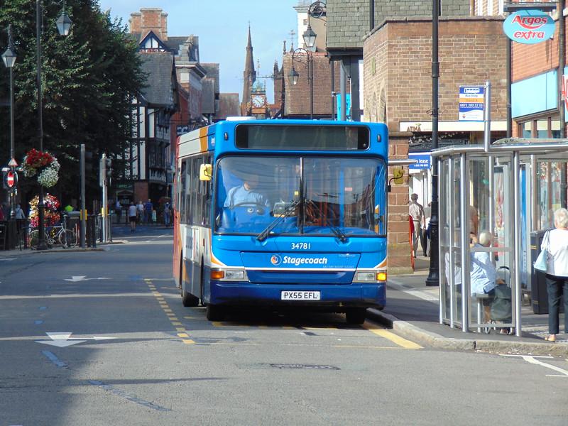 Stagecoach Dennis Dart Plaxton Pointer PX55EFL 34781 in Chester.