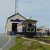 "Great Orme Tramway car no. 7 ""St. Trillo"" leaving Summit station, Llandudno."