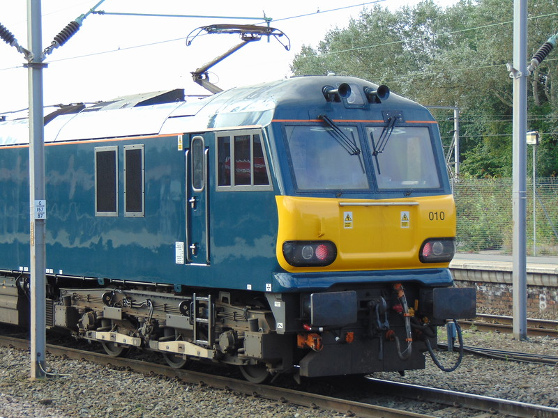 GBRF Caledonian Sleeper Class 92 no. 92010 at Crewe.