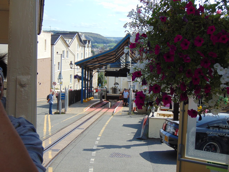 Climbing out of Llandudno Victoria up Old Street on the Great Orme Tramway.