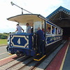 "Great Orme Tramway car no. 4 ""St. Tudno"" at Halfway station, Llandudno."
