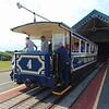 """Great Orme Tramway car no. 4 """"St. Tudno"""" at Halfway station, Llandudno."""