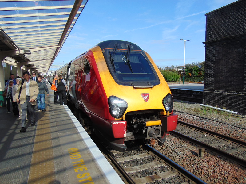 Virgin Trains Class 221 Super Voyger at Chester on a Holyhead service.