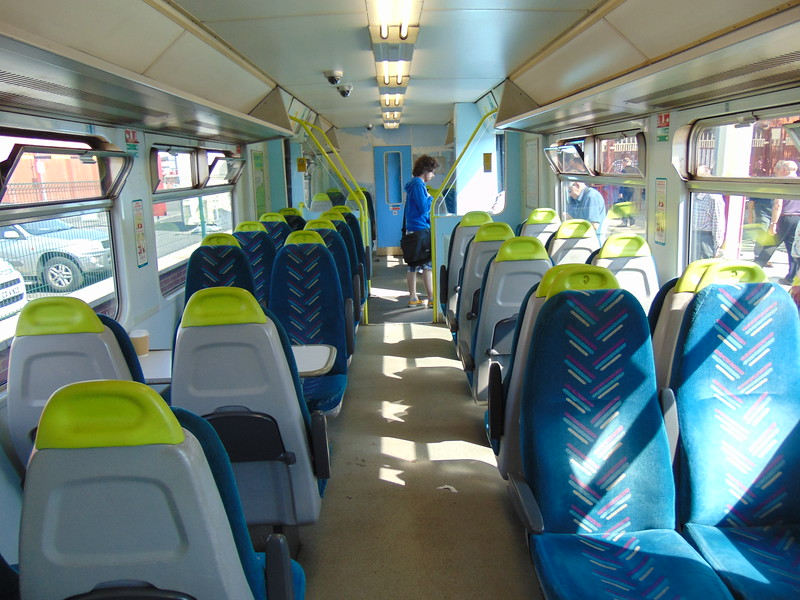 Arriva Trains Wales Class 150 Sprinter no. 150252 interior at Llandudno having arrived from Blaenau.