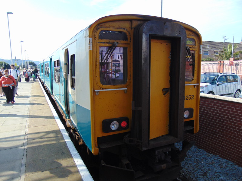 Arriva Trains Wales Class 150 Sprinter no. 150252 at Llandudno having arrived from Blaenau.