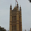 The Palace of Westminster seen from Victoria Tower Gardens.